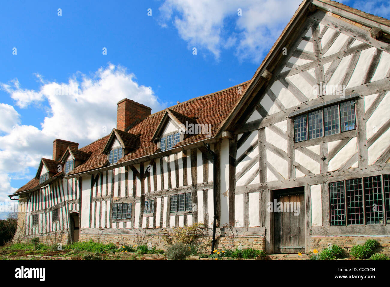 Mary Arden's House, Wilmcote, Stratford-upon-Avon, Warwickshire, England, United Kingdom, Europe - Stock Image