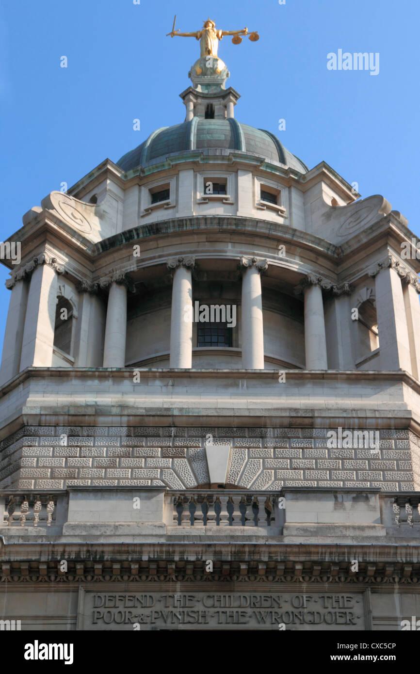 Central Criminal Court, Old Bailey, London, England, United Kingdom, Europe - Stock Image