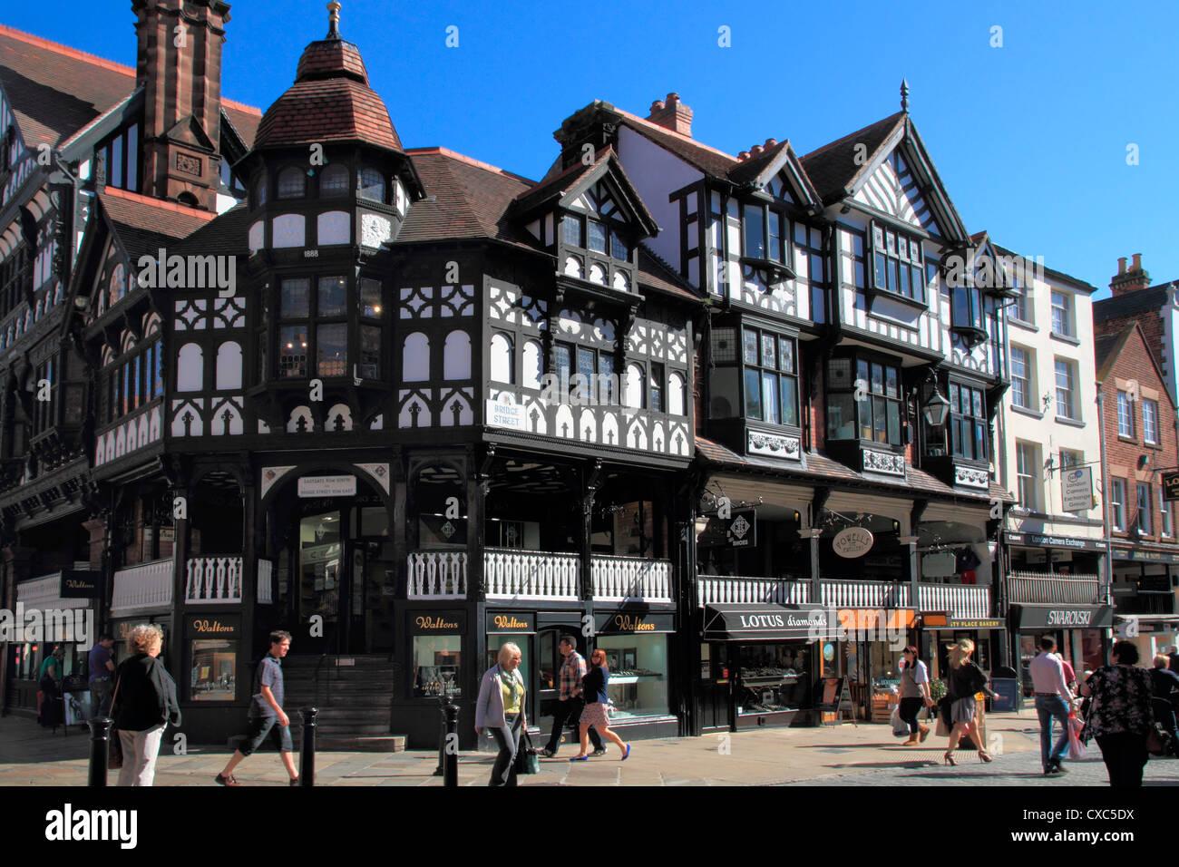 Bridge Street, Chester, Cheshire, England, United Kingdom, Europe - Stock Image