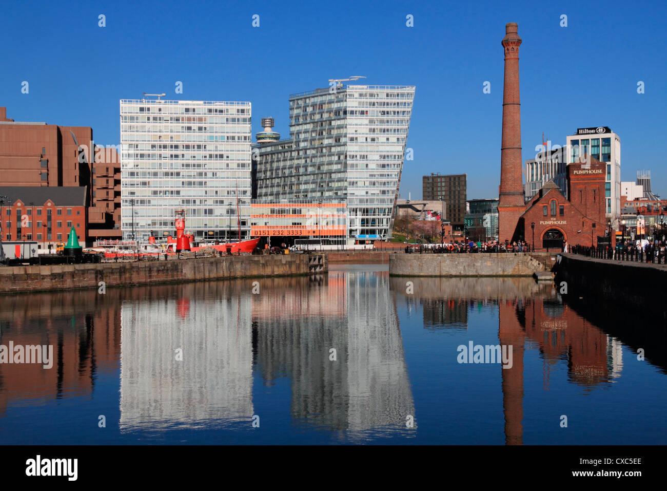 Canning Dock, Liverpool, Merseyside, England, United Kingdom, Europe - Stock Image