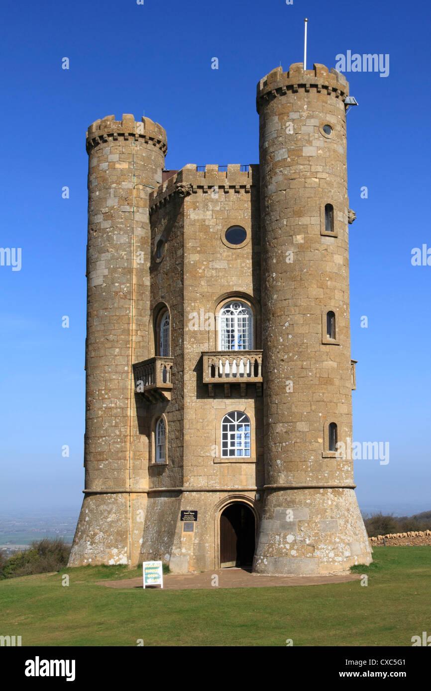 Broadway tower, Cotswolds, Worcestershire, England, United Kingdom, Europe Stock Photo