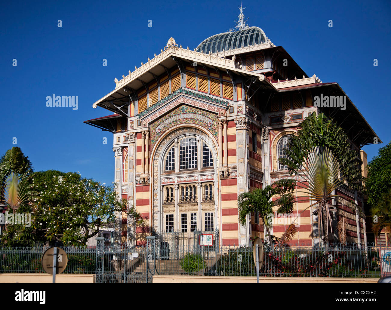 Bibliotheque Schoelcher (library), Fort-de-France, Martinique, Lesser Antilles,West Indies, Caribbean, Central America Stock Photo