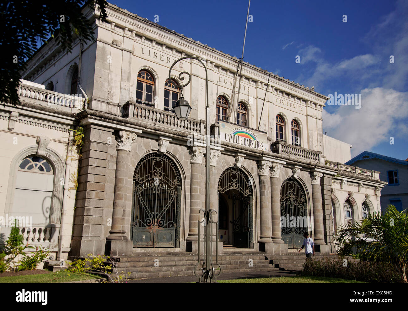 Former Courthouse building, Fort-de-France, Martinique, Lesser Antilles, West Indies, Caribbean, Central America - Stock Image