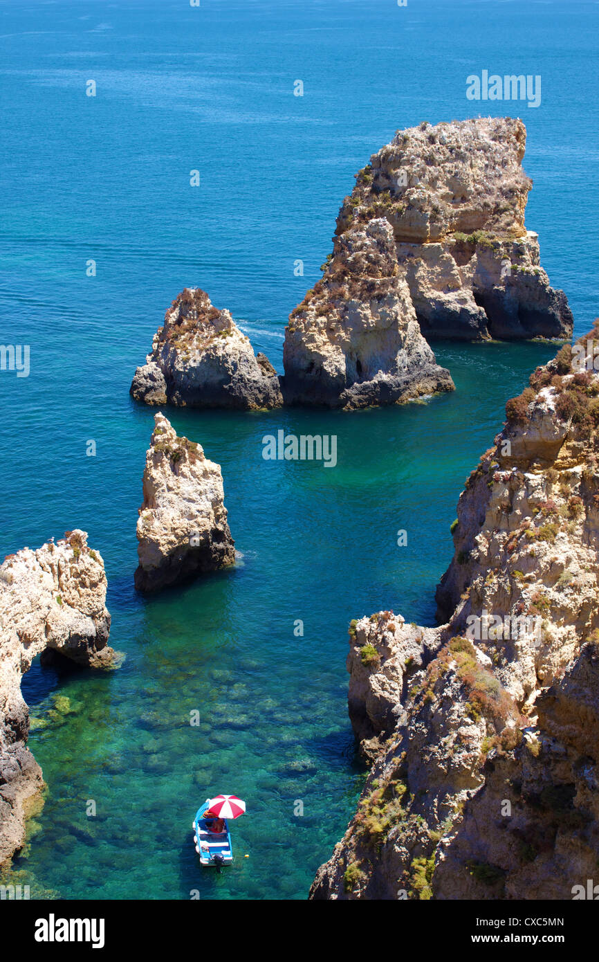 Ponta da Piedade, Lagos, Algarve, Portugal, Europe - Stock Image
