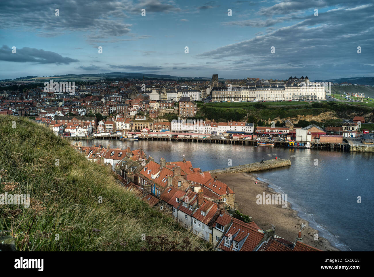 Whitby harbour, North Yorkshire, Yorkshire, England, United Kingdom, Europe - Stock Image