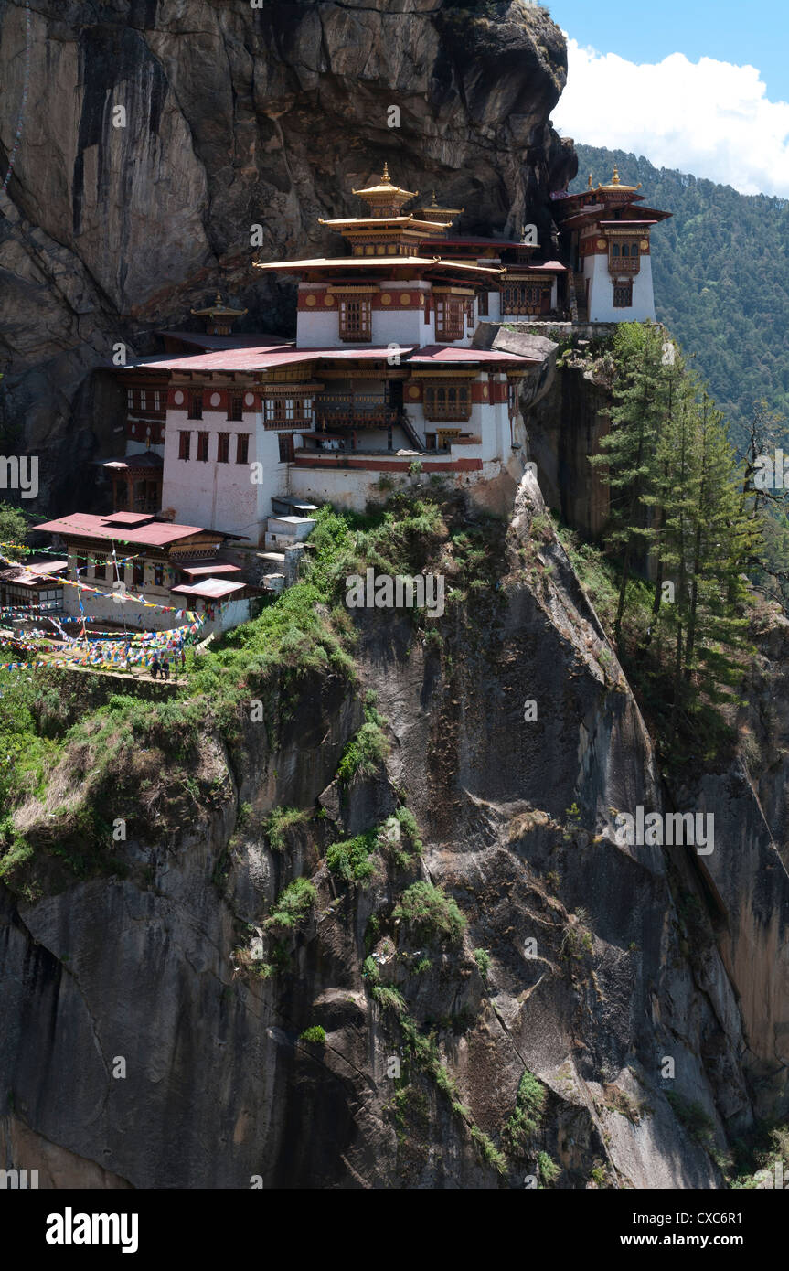 Taktshang Goemba (Tigers nest monastery), Paro valley, Bhutan, Asia Stock Photo