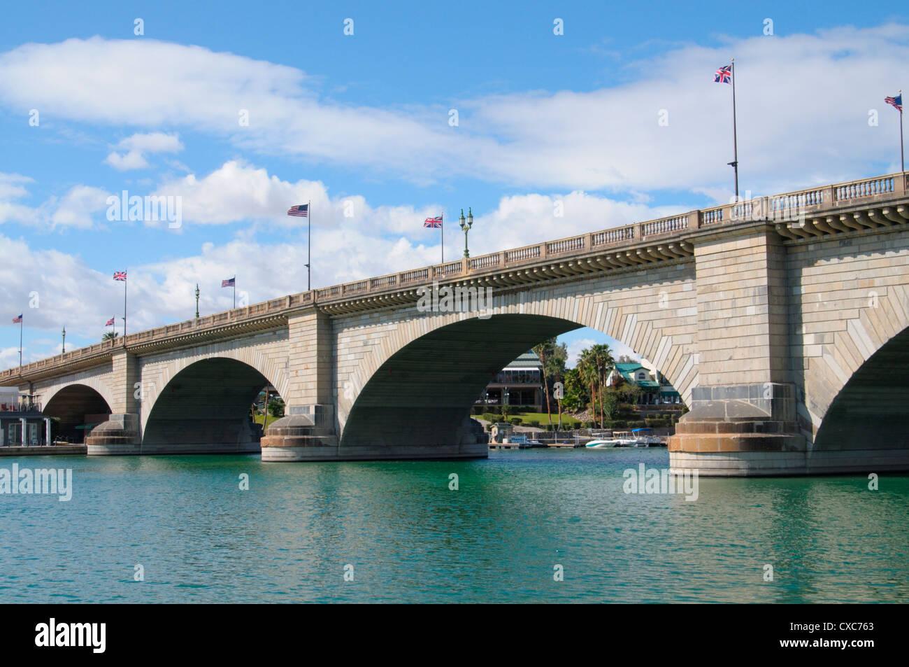 London Bridge, Lake Havasu City, Arizona, United States of America, North America - Stock Image