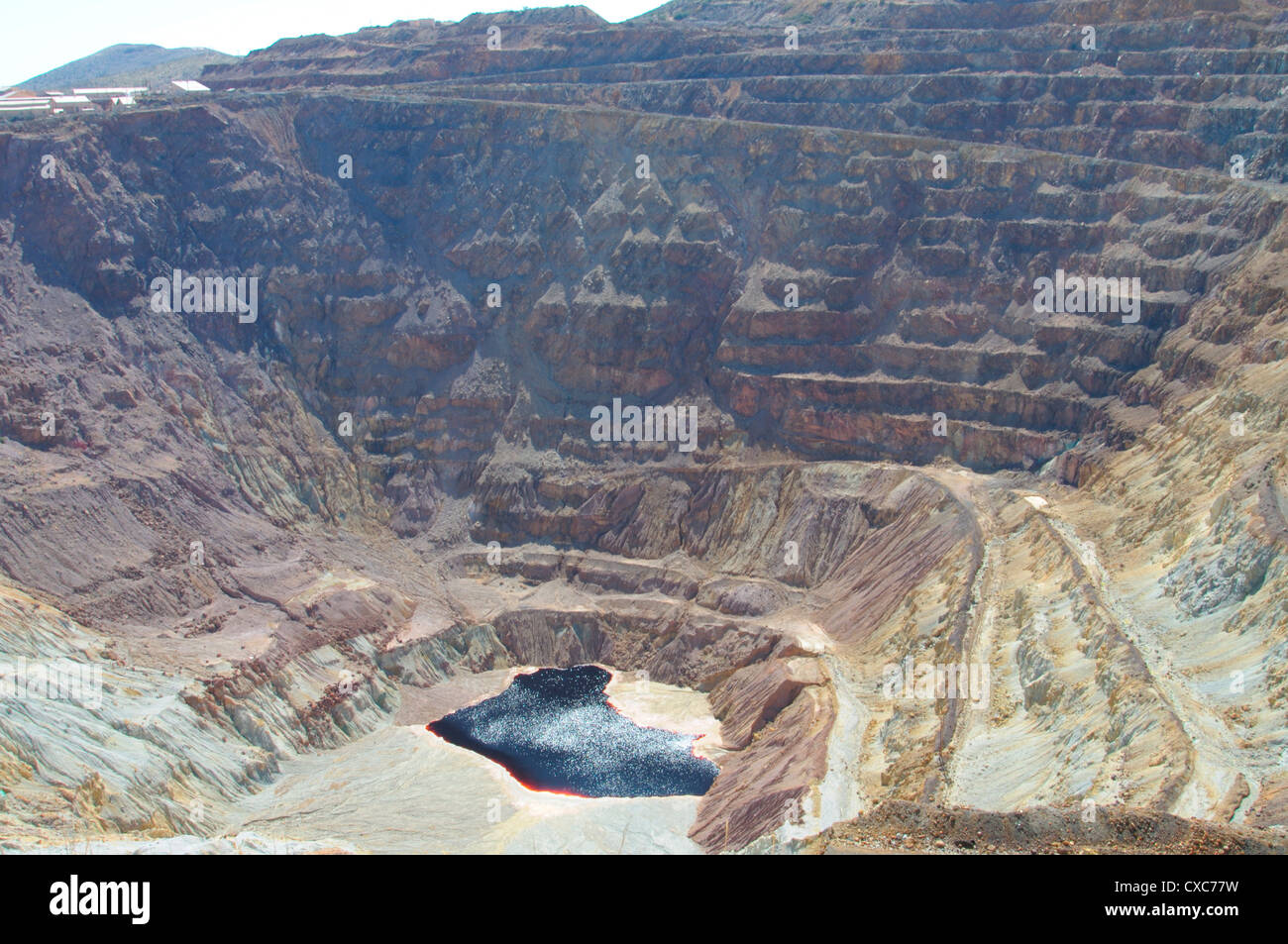 The Lavender open pit copper mine in Bisbee, Arizona, United States of America, North America Stock Photo