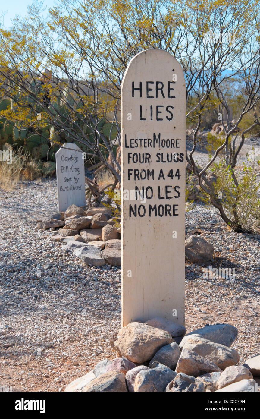 Boot Hill Cemetery, Tombstone, Arizona, United States of