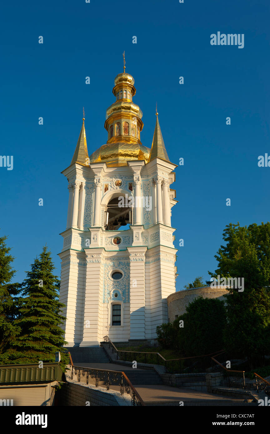 Kovnirs Bell Tower, Church of the Nativity of the Virgin, Pechersk Lavra, UNESCO World Heritage Site, Kiev, Ukraine, - Stock Image