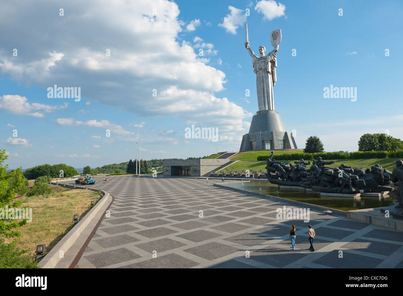 Rodina Mat (The Motherland Monument) and The National Museum of the History of the Great Patriotic War 1941-1945, - Stock Image