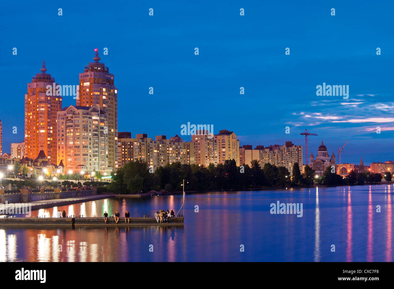 Obolon, Kiev, Ukraine, Europe - Stock Image