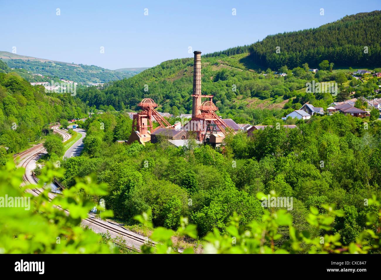 Colliery Pit, Rhondda Heritage Park, Rhondda Valley, South Wales, United Kingdom, Europe - Stock Image