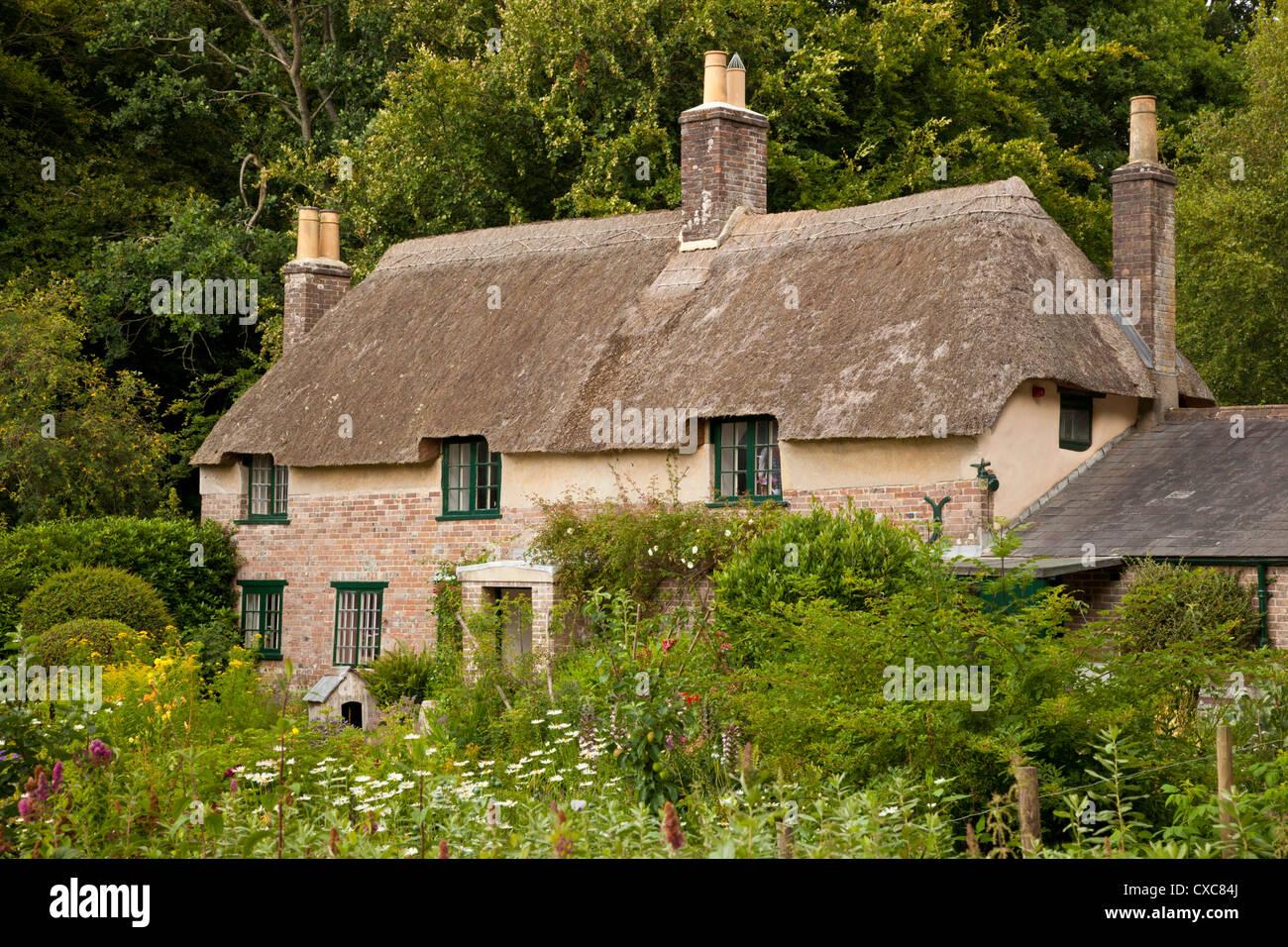 Thomas Hardy's cottage, Higher Bockhampton, near Dorchester, Dorset, England, United Kingdom, Europe - Stock Image