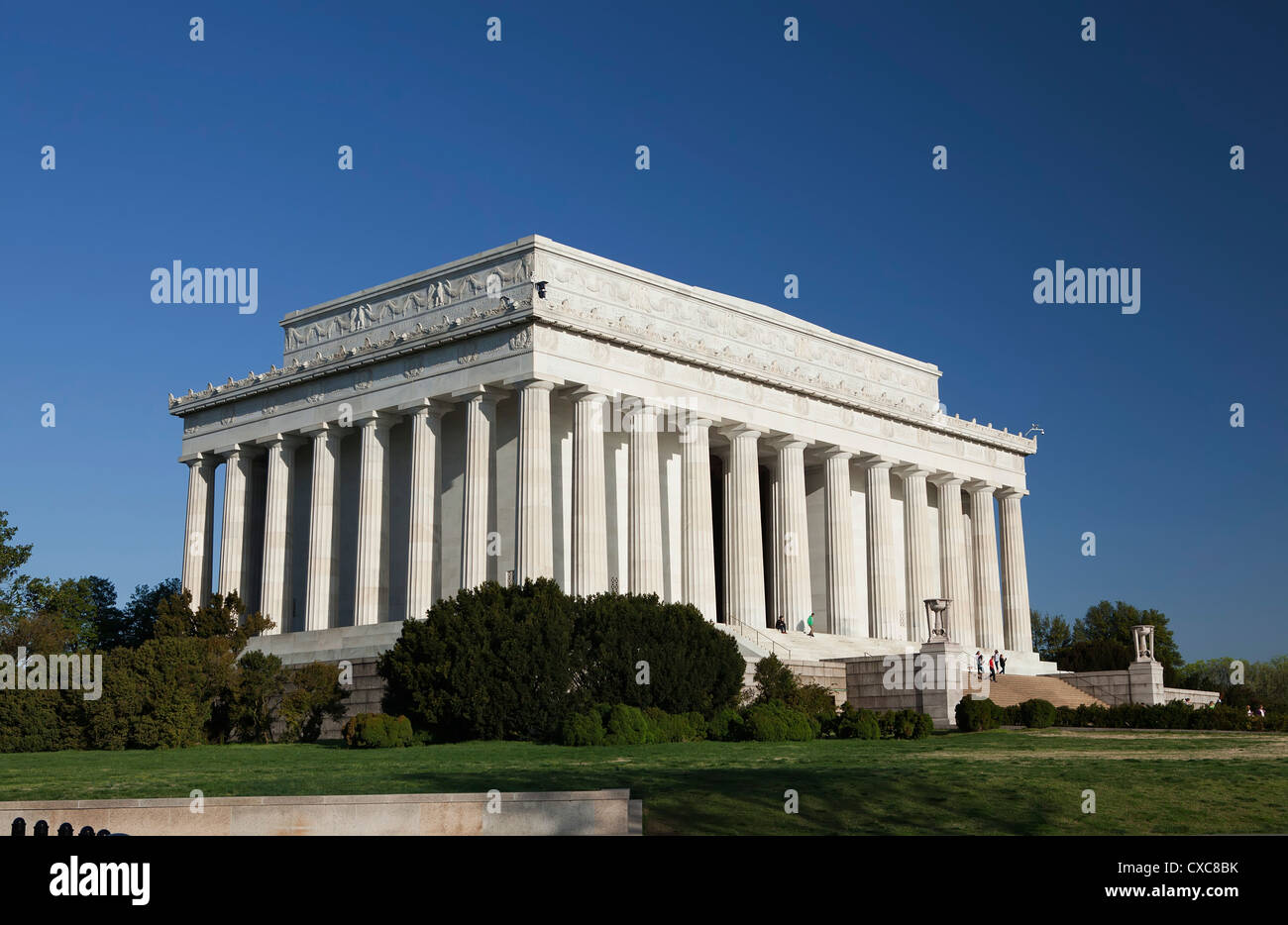 The Lincoln Memorial, Washington D.C., United States of America, North America - Stock Image