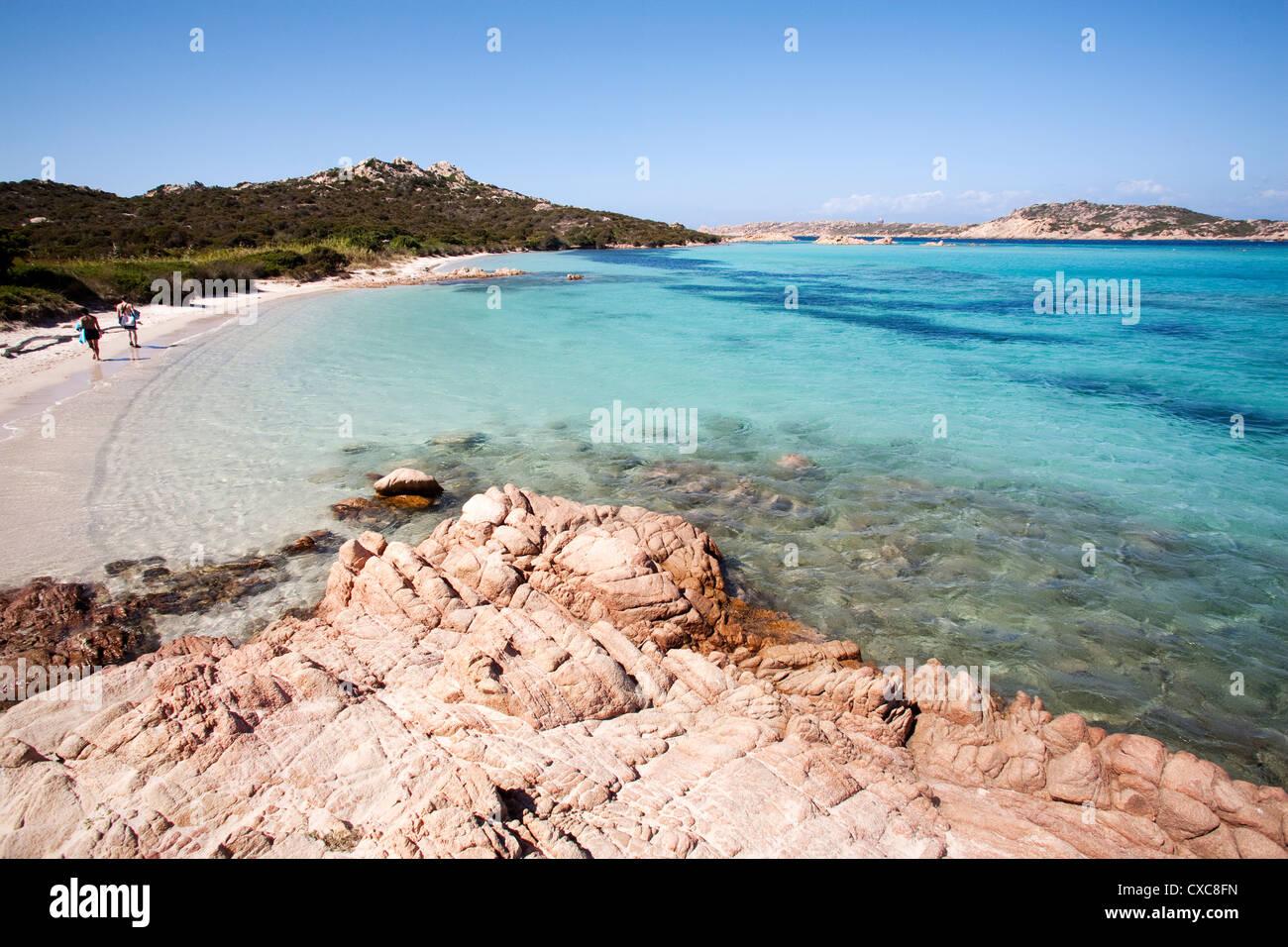 The Madonna Mantle, Maddalena Islands, La Maddalena National Park, Sardinia, Italy - Stock Image