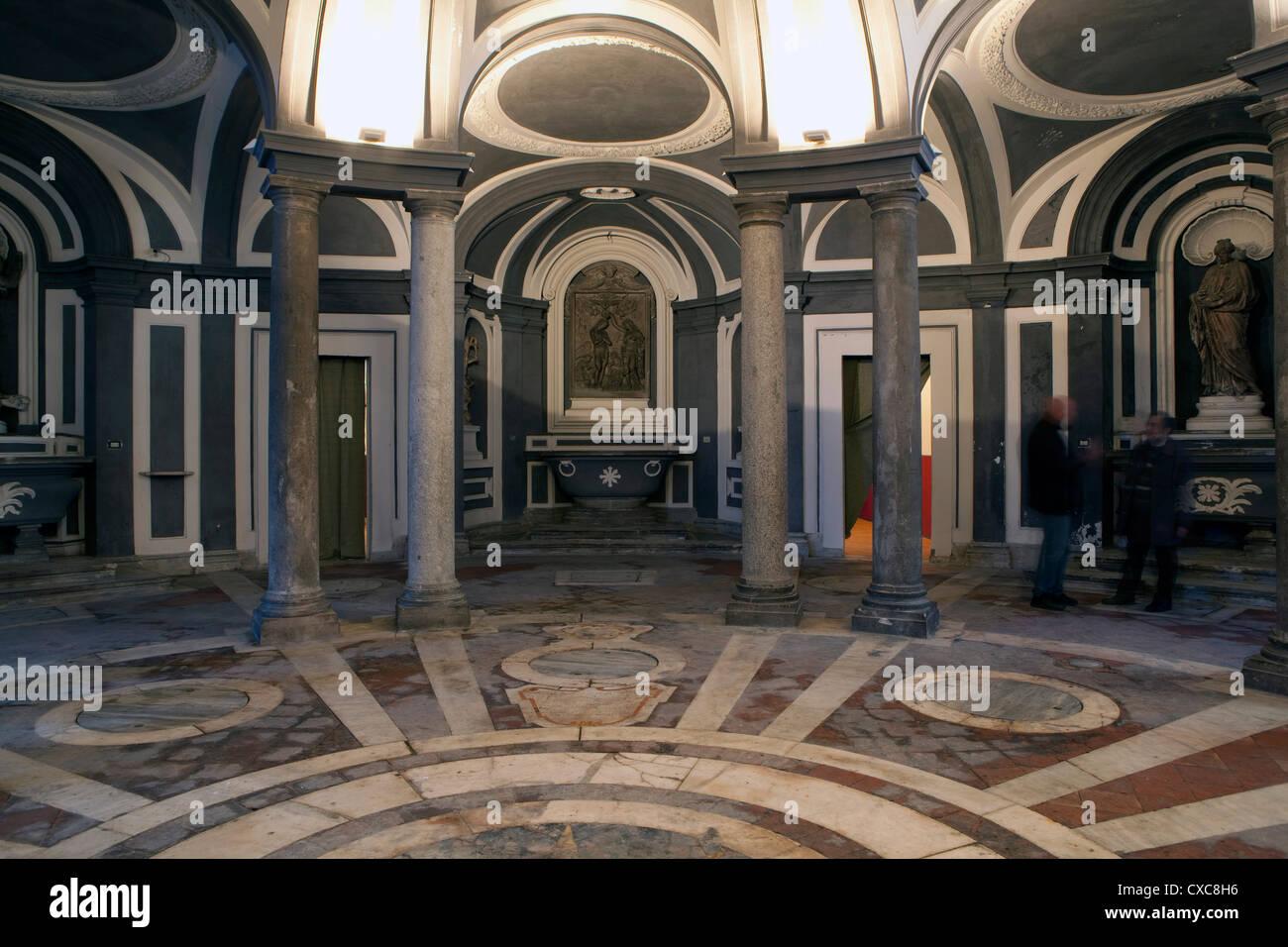 The Carlo Vanvitelli underground basilica of the SS Annunziata, Naples, Campania, Italy - Stock Image