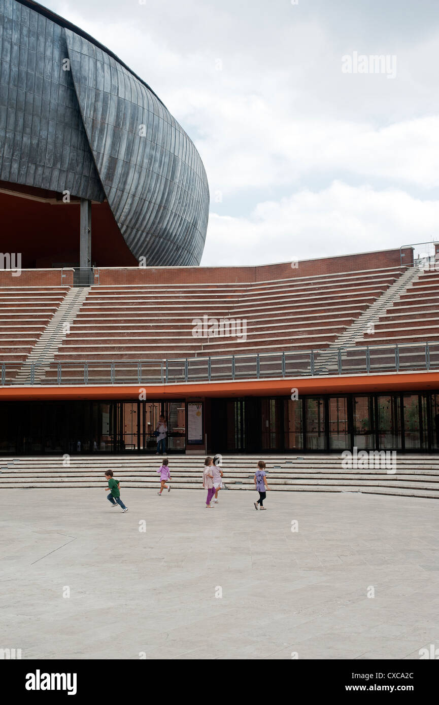 Auditorium Parco della Musica, designed by architect Renzo Piano. Rome, Italy, Europe. Stock Photo