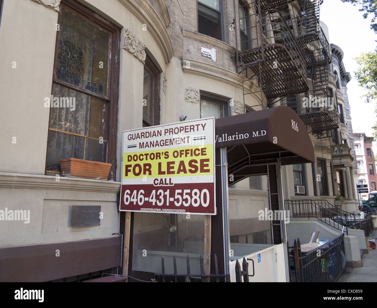 Doctor's office for lease in Park Slope Brooklyn; NY; a neighborhood with a hospital nearby. - Stock Image