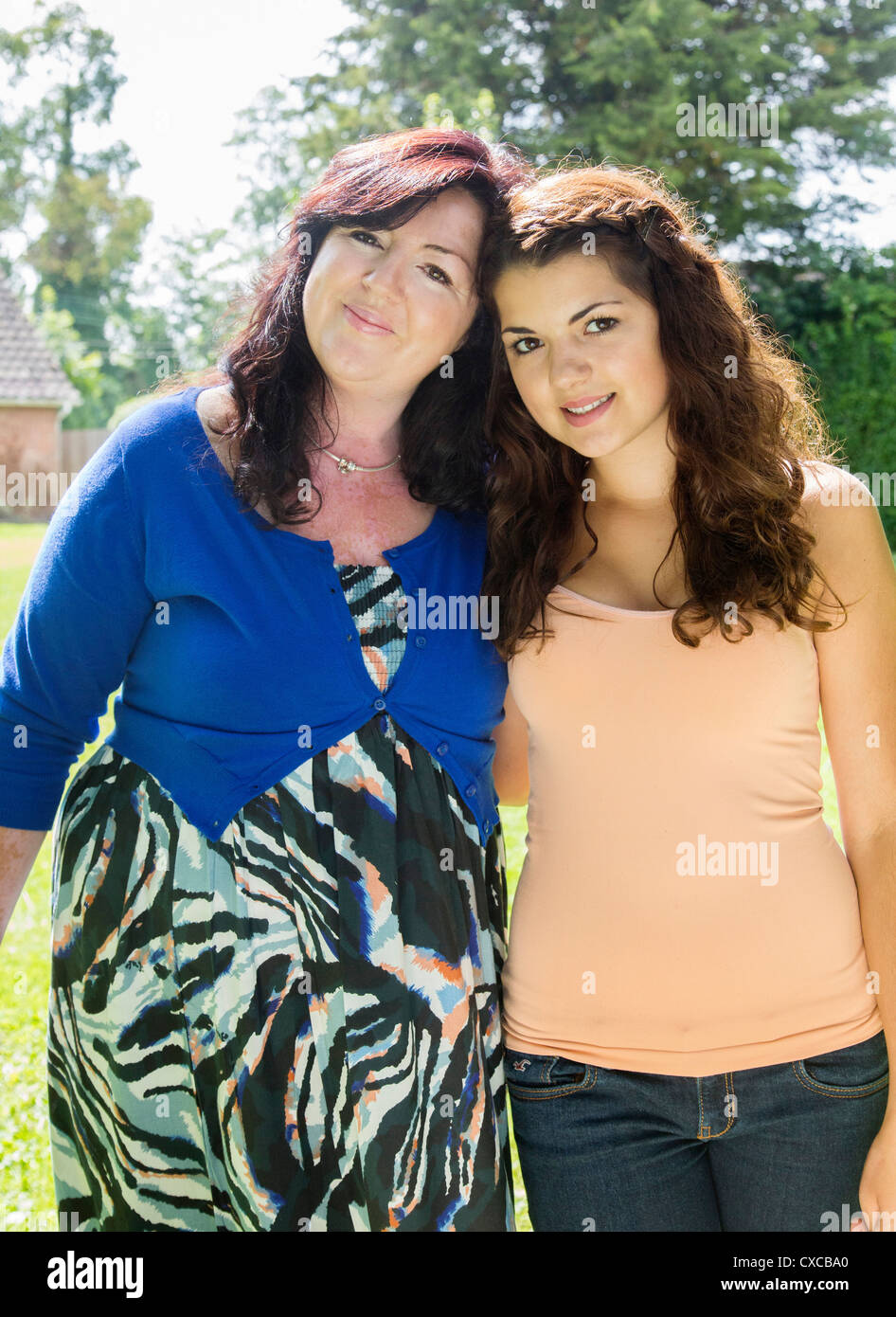 portrait of mother and daughter - Stock Image