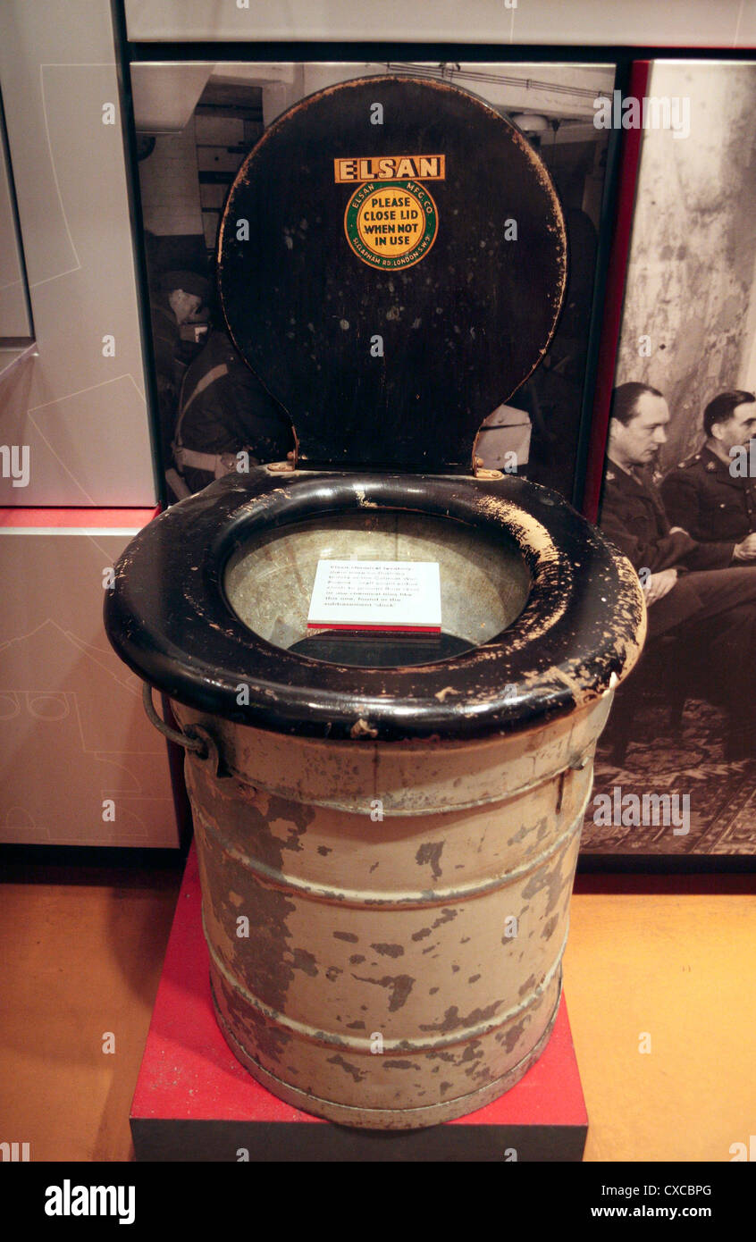 An Elsan Chemical Toilet On Display In The Churchill War