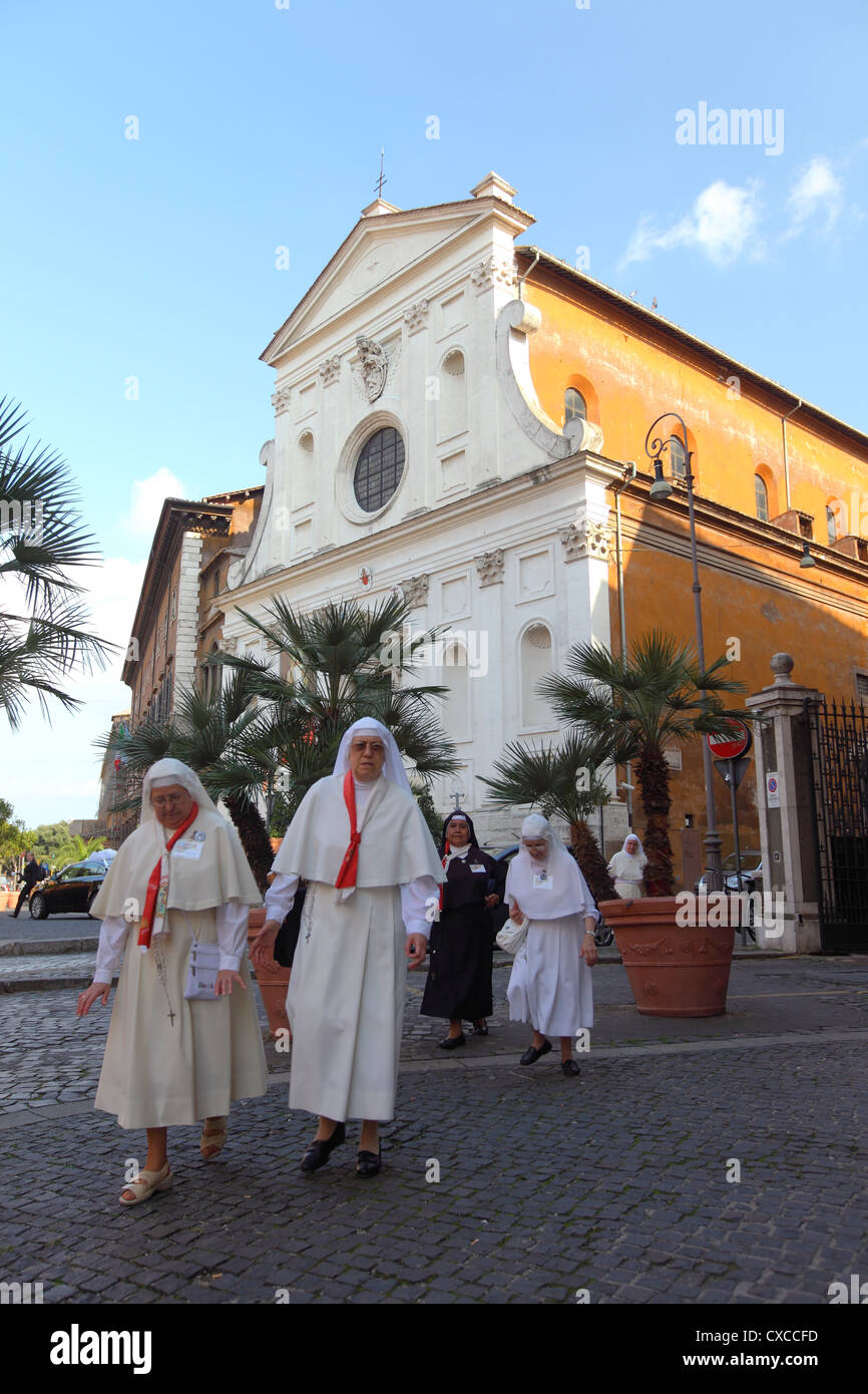Italy, Rome, Rom, Roma, city, church, chiesa del Santo Spirito in Sassia, Santo, Spirito - Stock Image