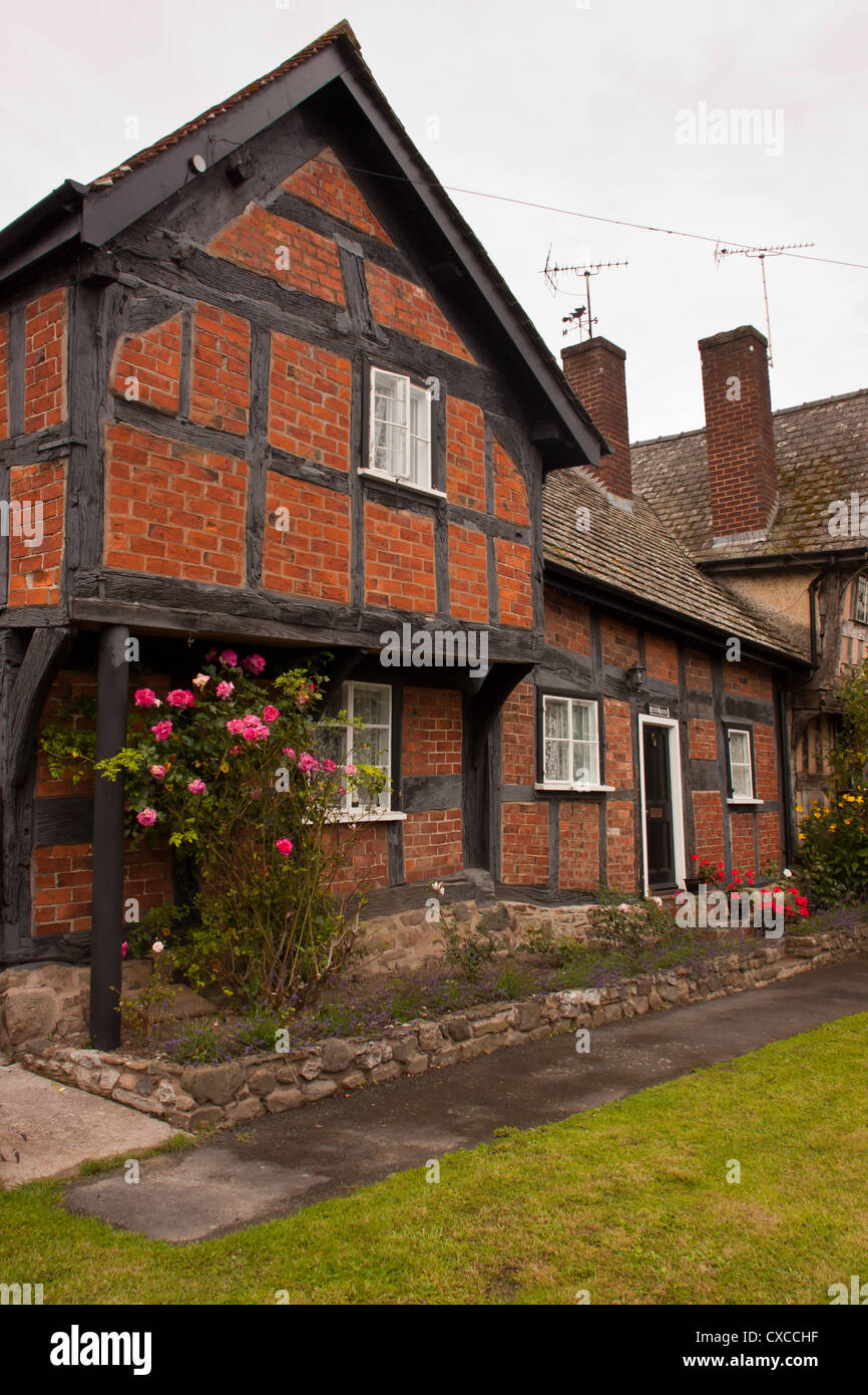 """Brick House"" built in 1446/54 in the medieval historic village of  Pembridge, Herefordshire, England, UK."