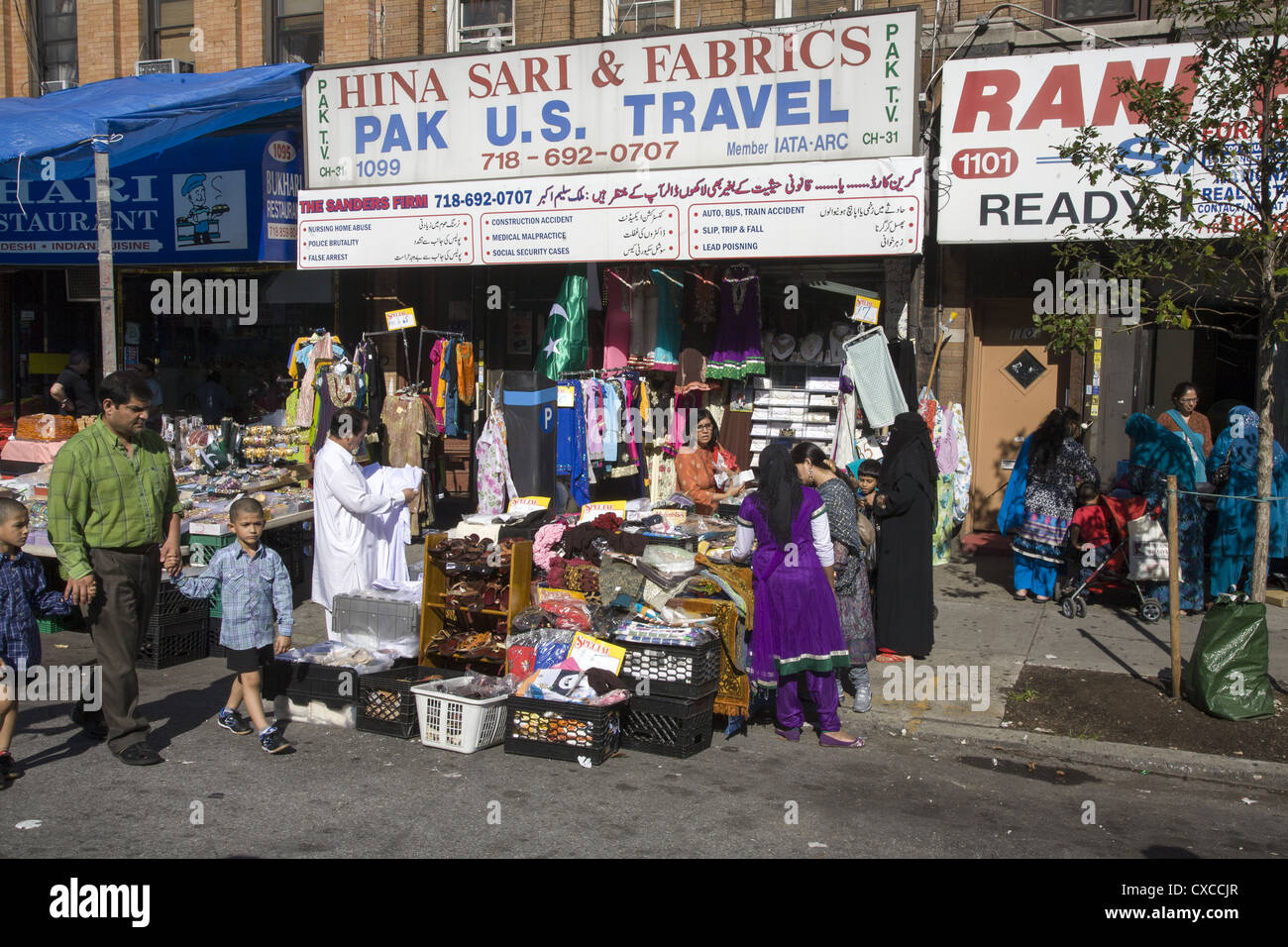 Stores In The Pakistani Neighborhood Along Coney Island Avenue In