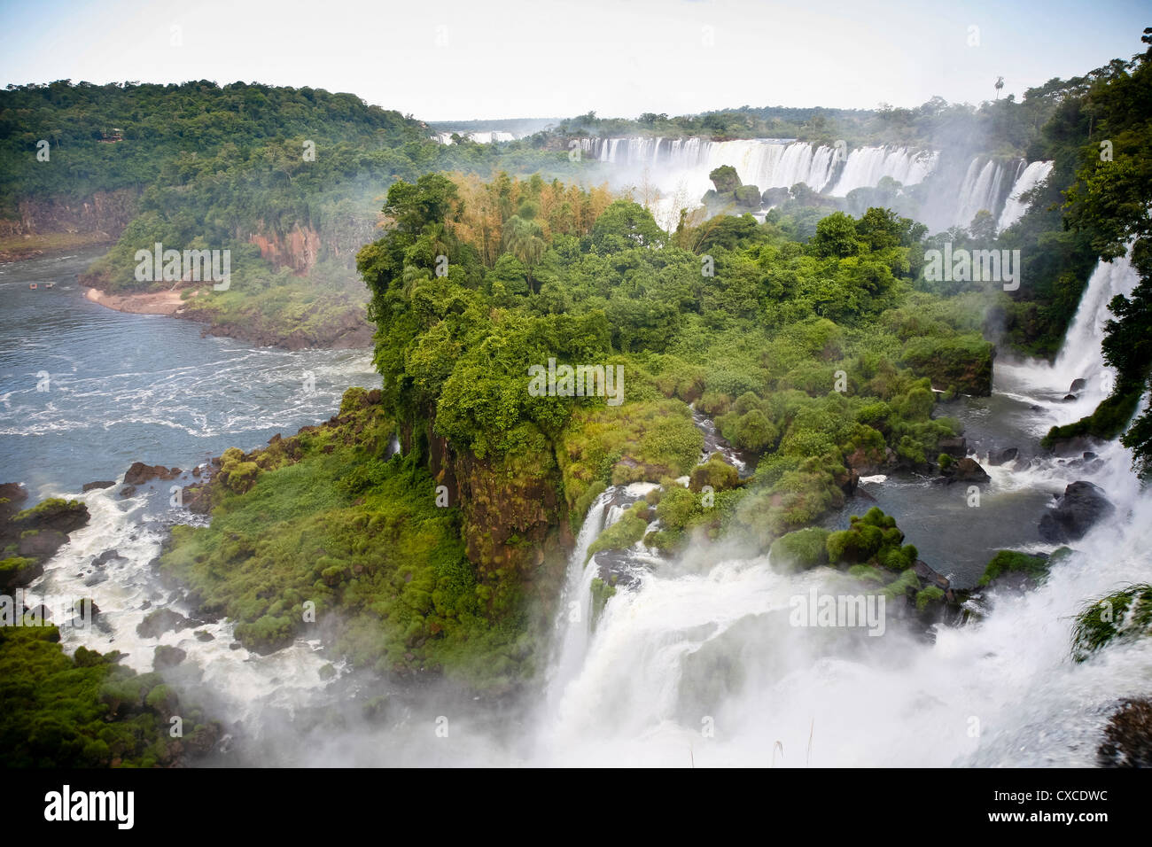 Iguazu waterfalls, Misiones province, Argentina. - Stock Image