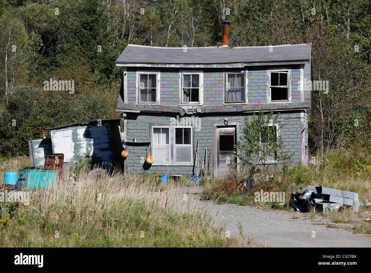 house in disrepair, New Brunswick, Canada - Stock Image