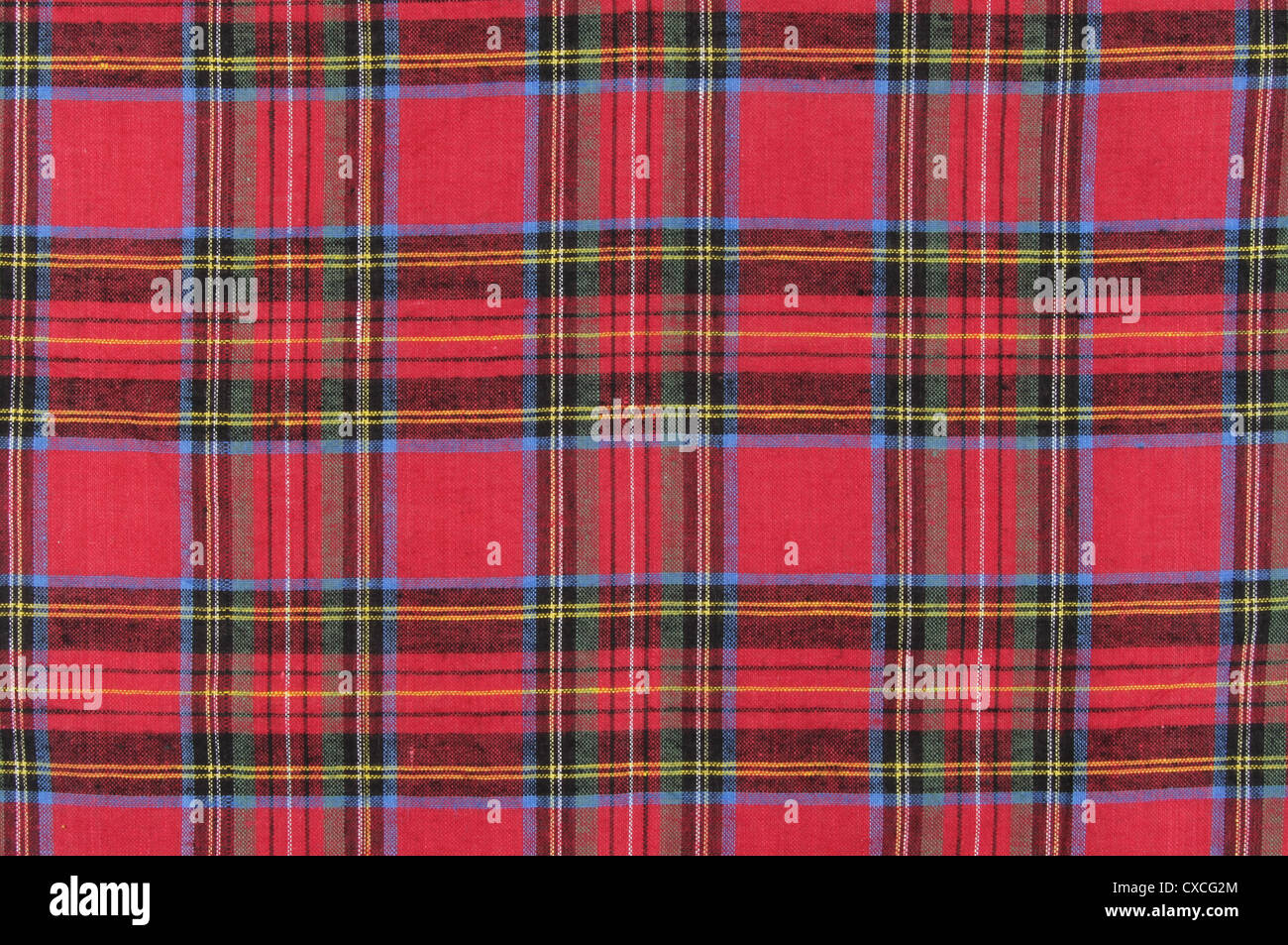 Tartan material as a background and texture - Stock Image
