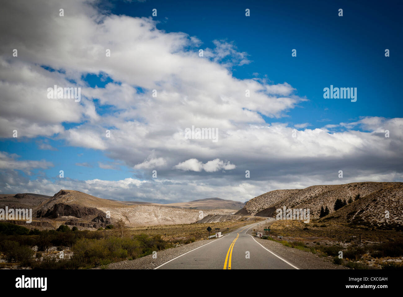 View over Ruta 40, Patagonia, Argentina. - Stock Image