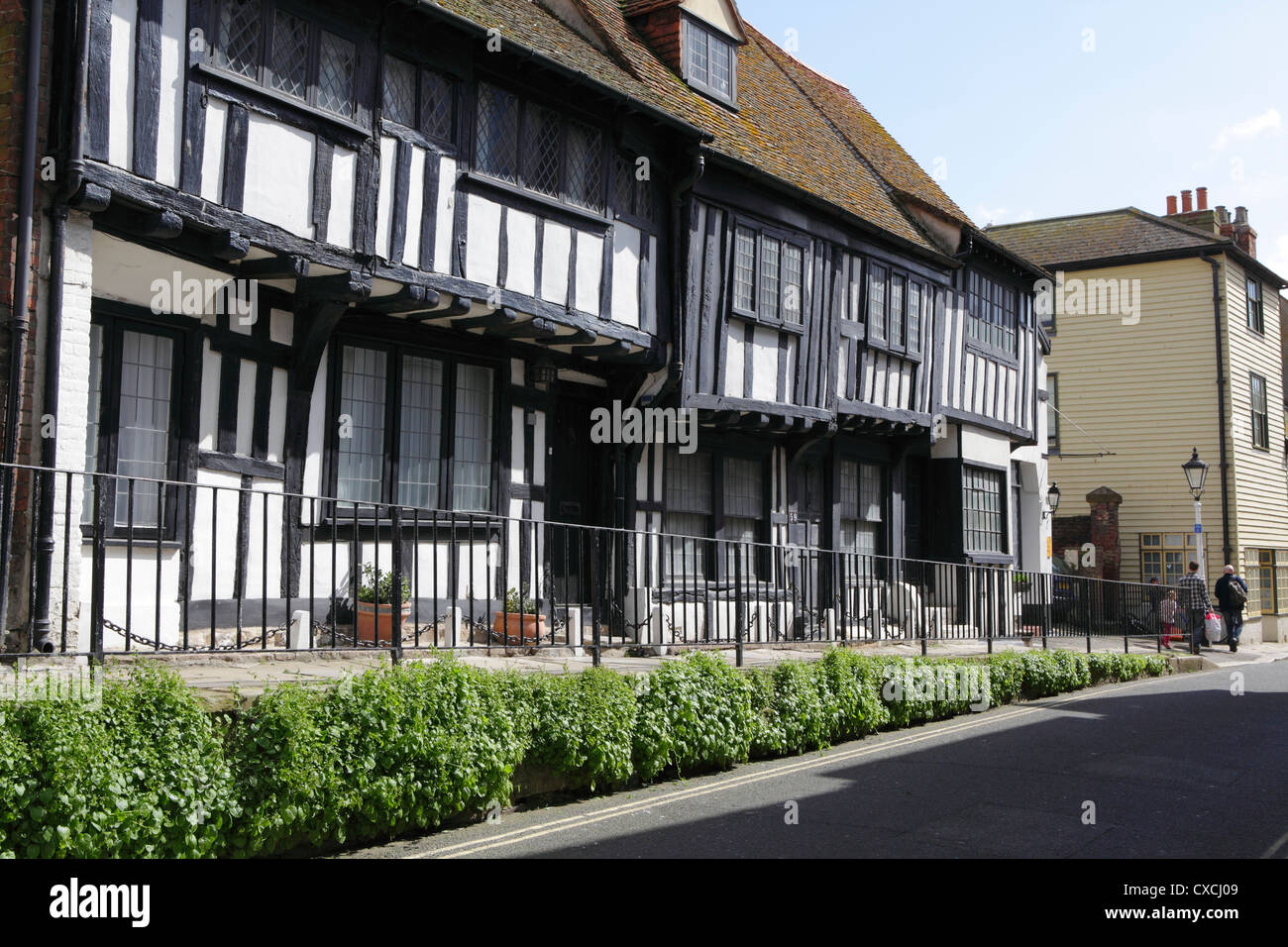 Half timbered medieval Sussex Wealden hall house in All Saints Street Hastings Old Town England UK GB Stock Photo