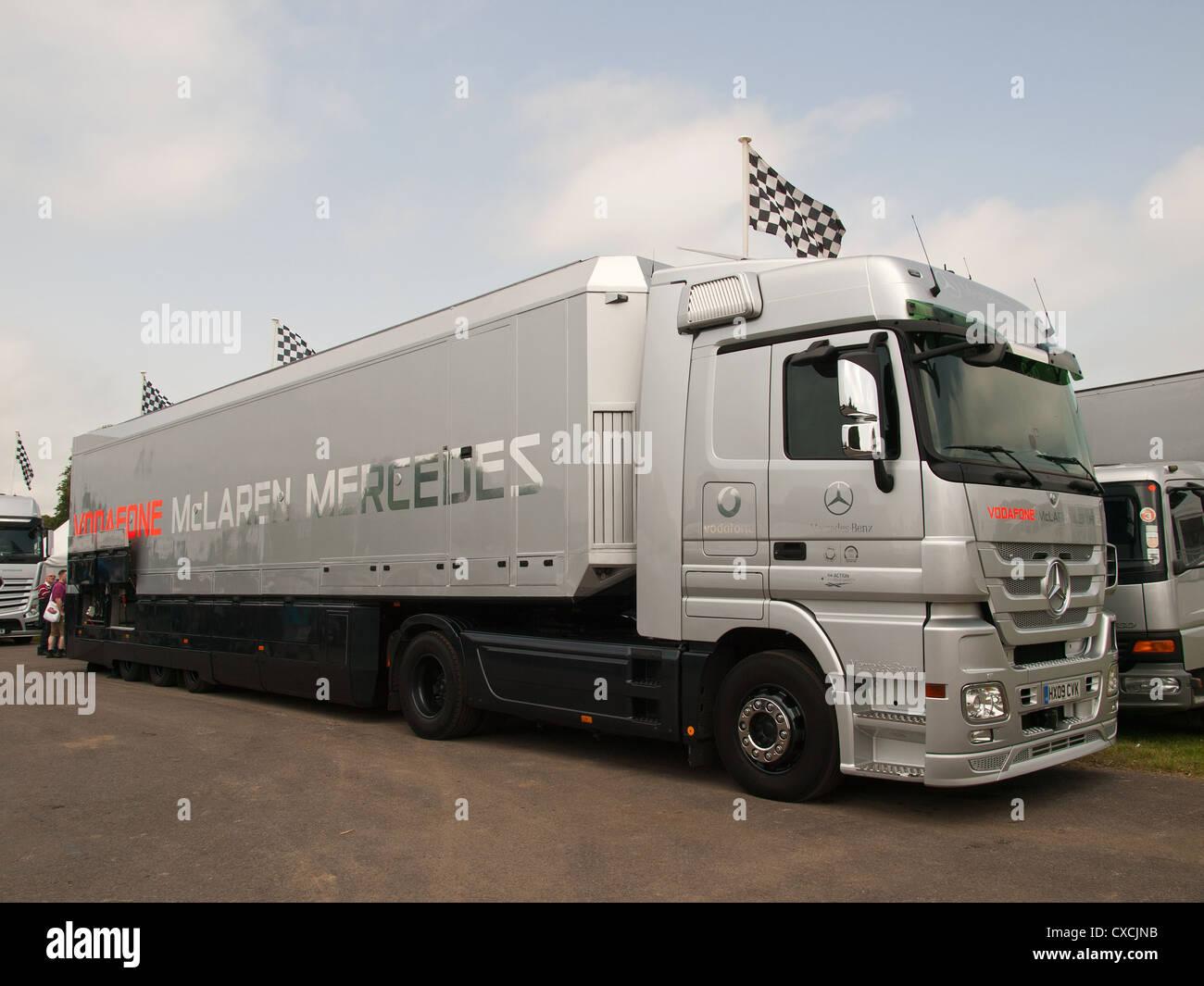 F1 Car Transporter Stock Photos Amp F1 Car Transporter Stock