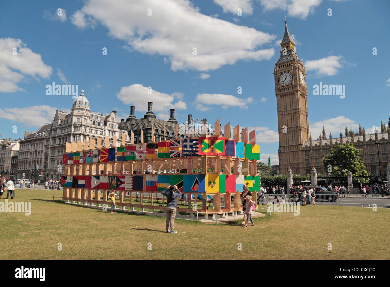 The House of Flags art Installation on Parliament Square in the ...