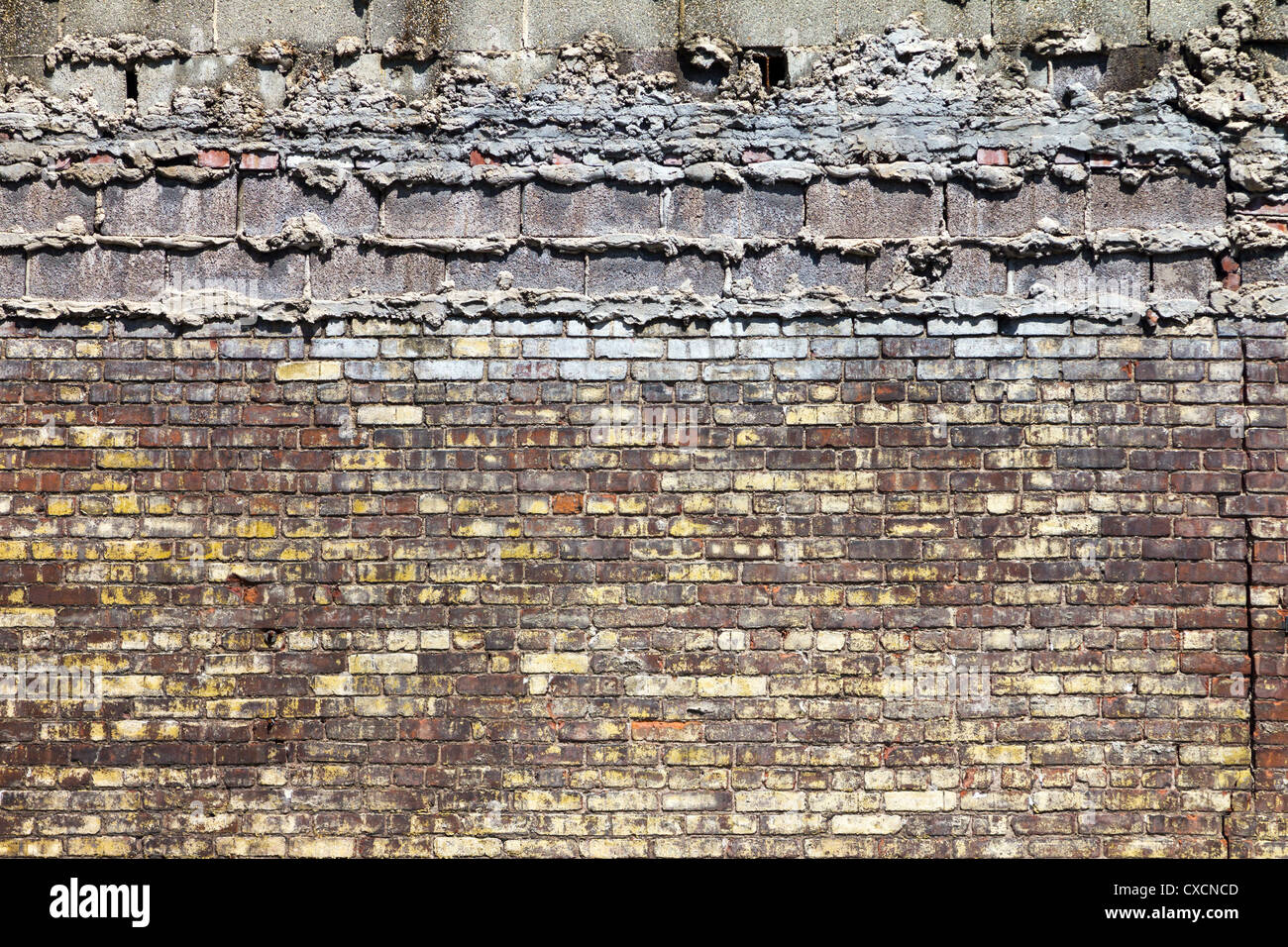 Old Grungy Brick Background Texture - Stock Image
