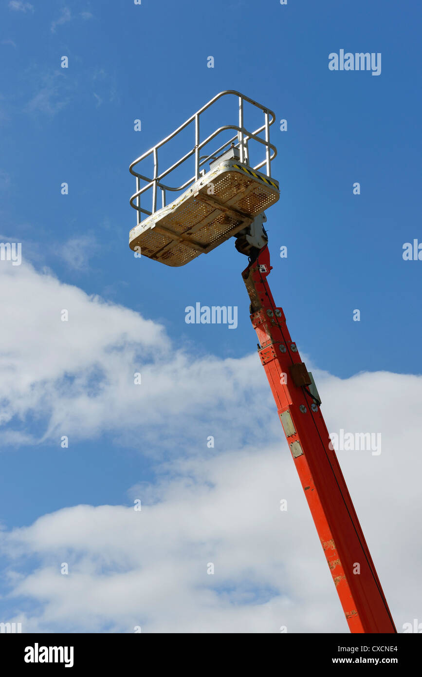 Telescopic boom lift platform - Stock Image