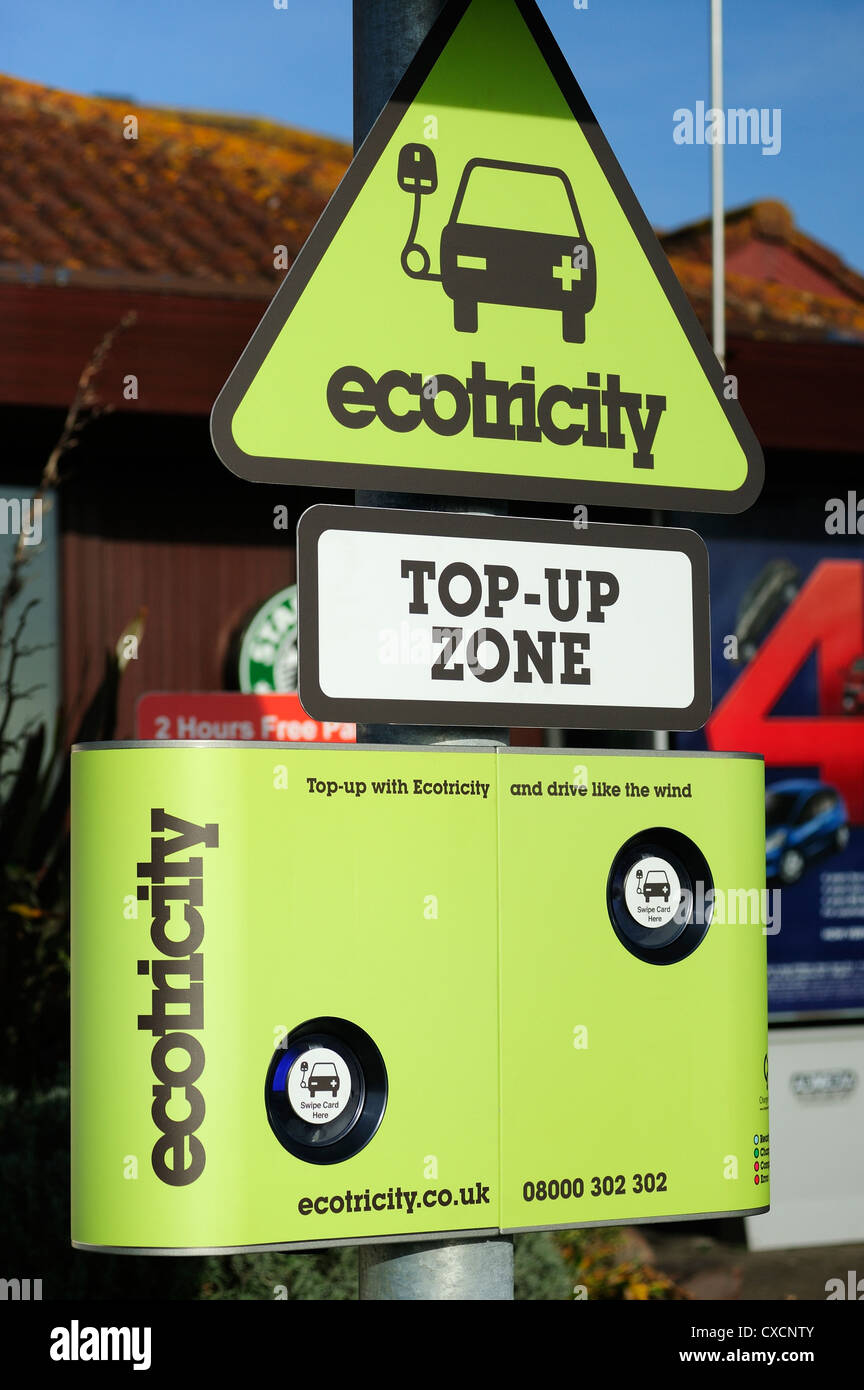 Ecotricity top up zone Stock Photo