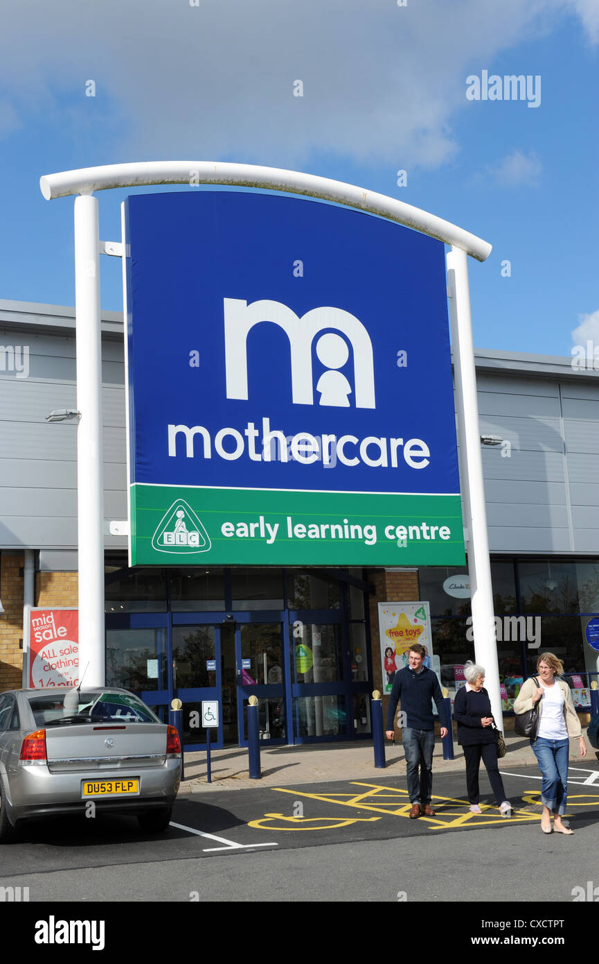 Mothercare Early Learning Centre logo shop sign uk - Stock Image