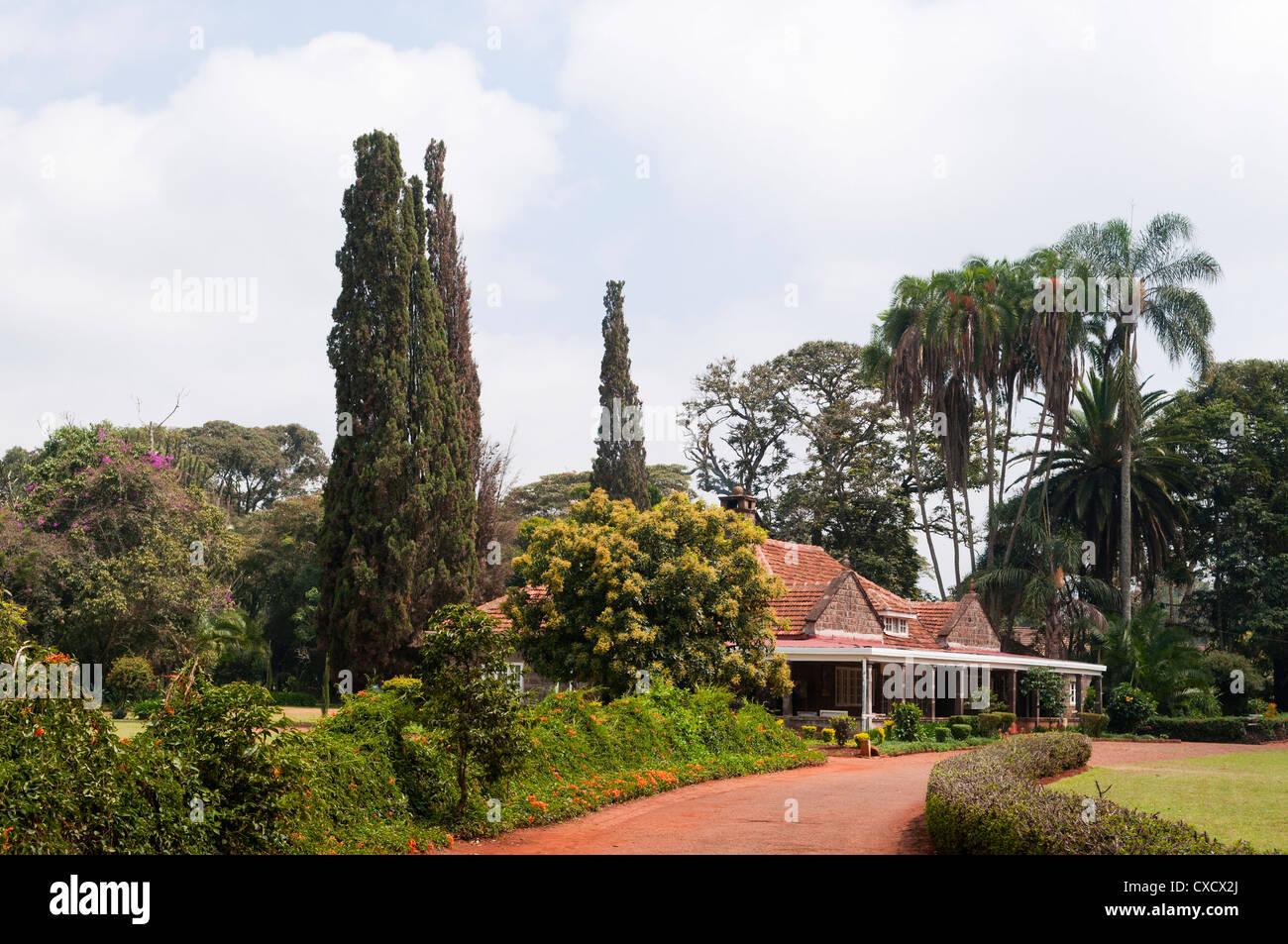 Karen Blixen's house, Nairobi, Kenya, East Africa, Africa - Stock Image