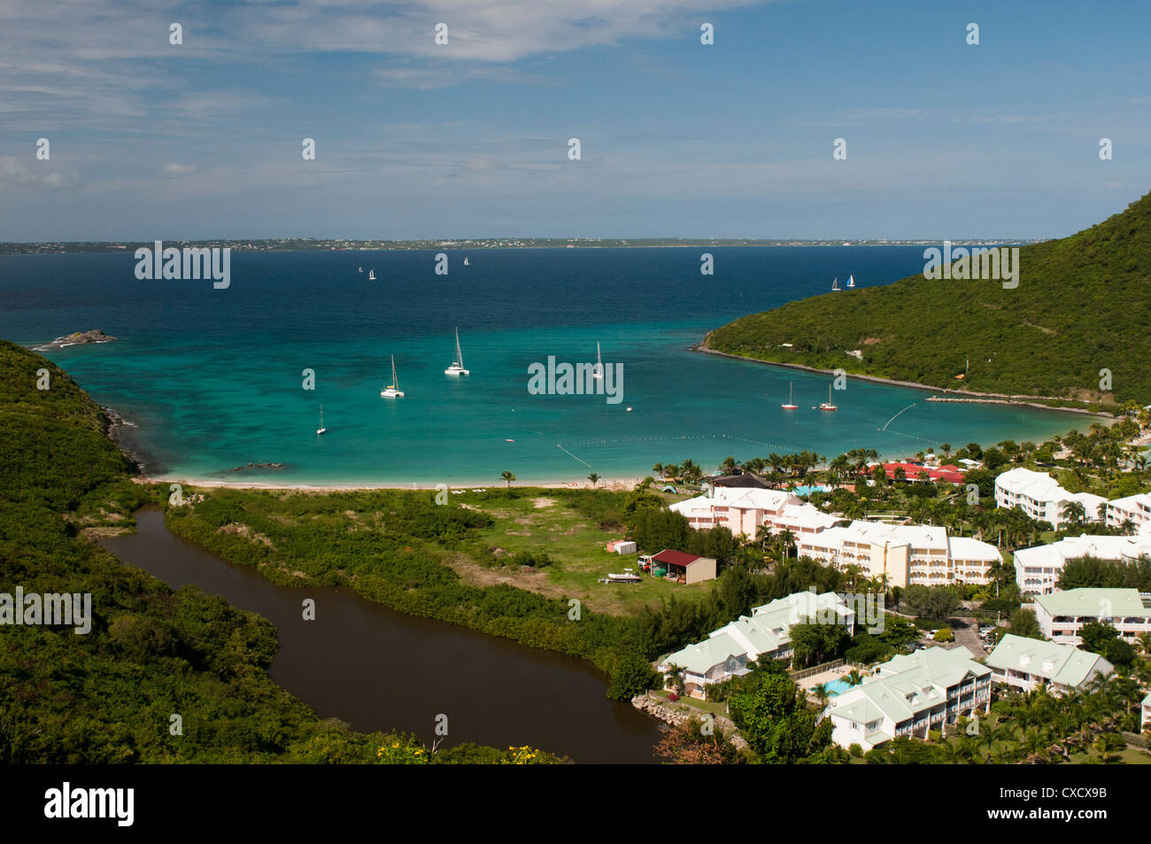 Anse Marcel Bay, St. Marten, West Indies, Caribbean, Central America - Stock Image