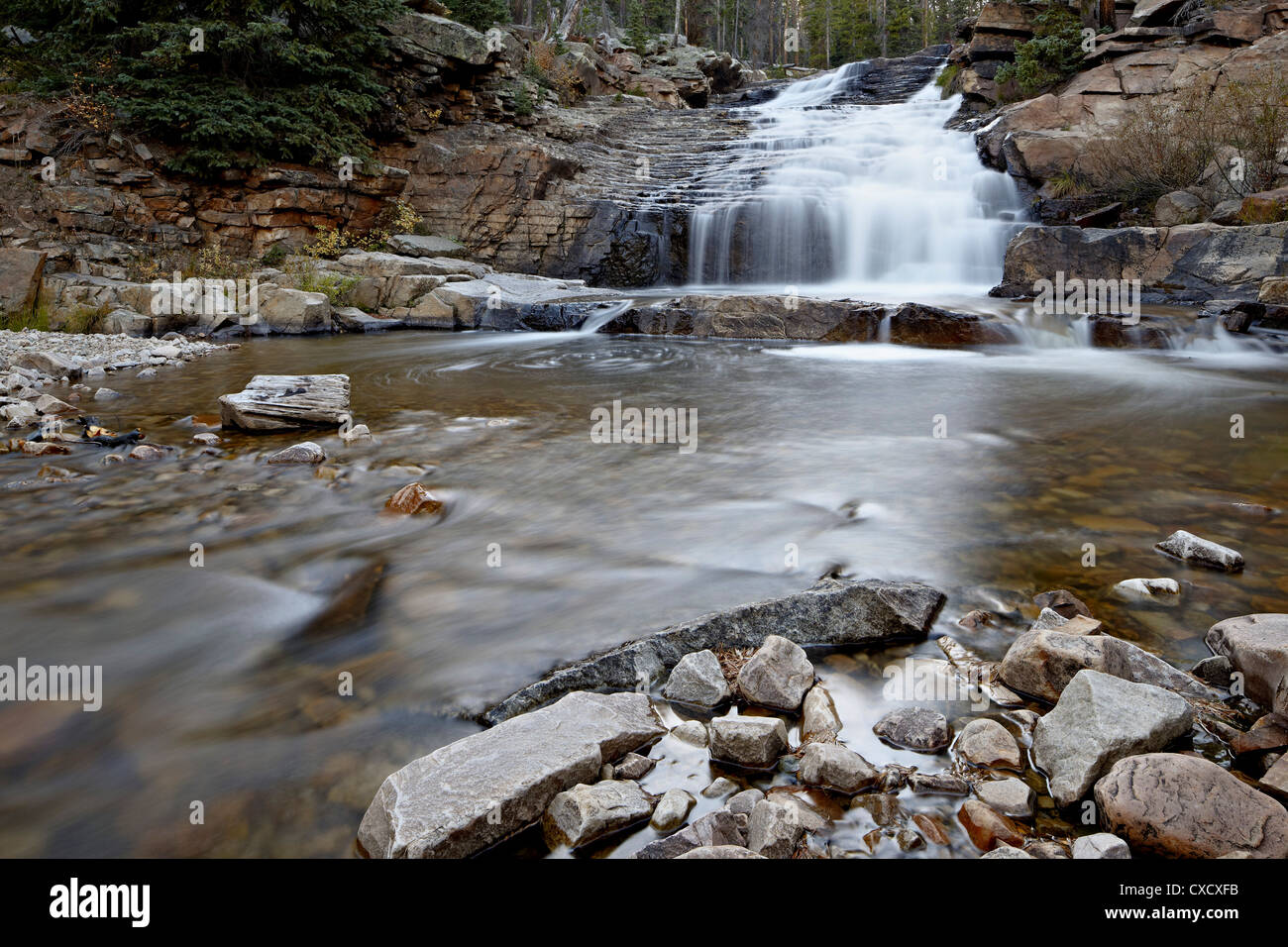 Provo Falls, Wasatch-Cache National Forest, Utah, United States of America, North America - Stock Image