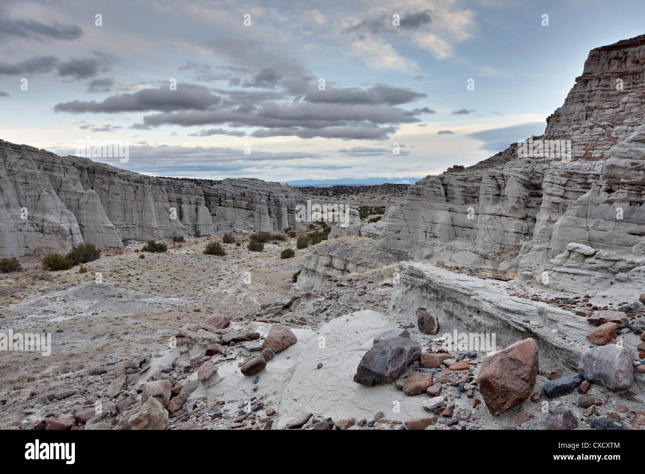 White rock badlands, Carson National Forest, New Mexico, United States of America, North America - Stock Image