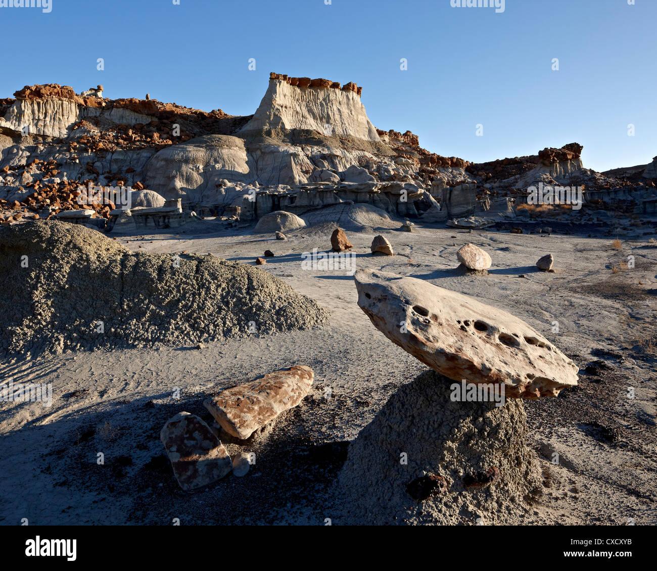 Badlands, Bisti Wilderness, New Mexico, United States of America, North America - Stock Image