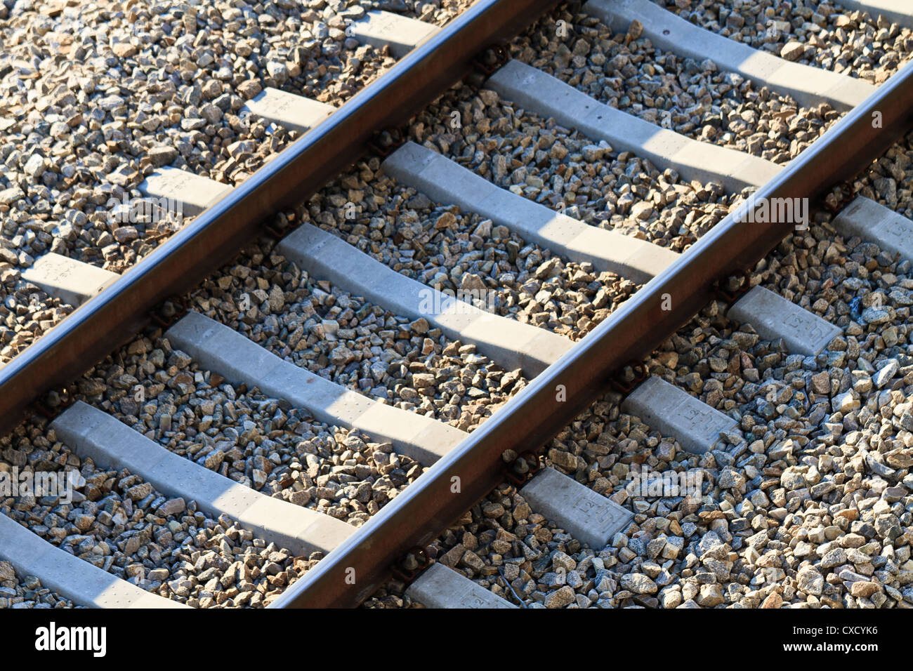 Railroad Track (view from above) - Stock Image