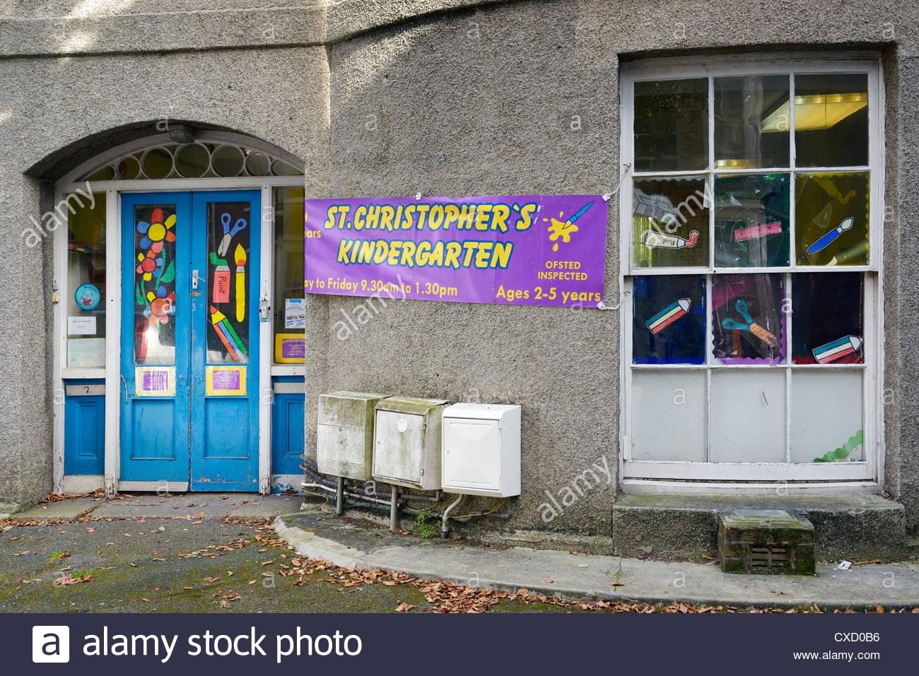 St Christopher's Kindergarten, Street-An-Pol, St Ives, Cornwall, England - Stock Image