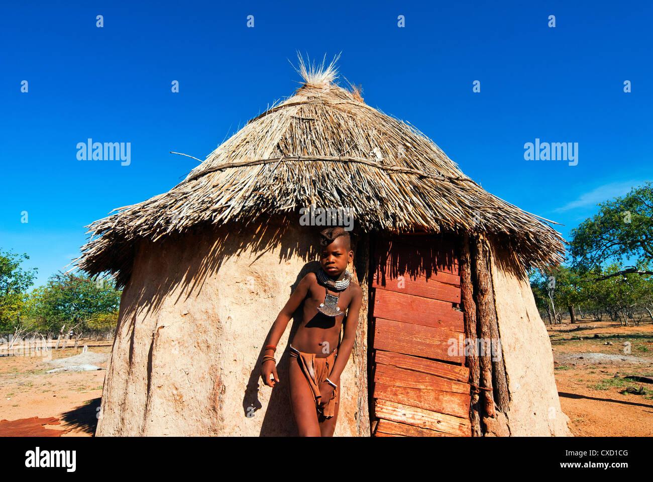 Himba boy, Kaokoveld, Namibia, Africa - Stock Image