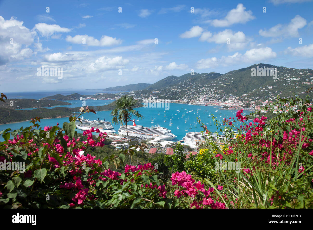 Charlotte Amalie, St. Thomas, U.S. Virgin Islands, West Indies, Caribbean, Central America Stock Photo