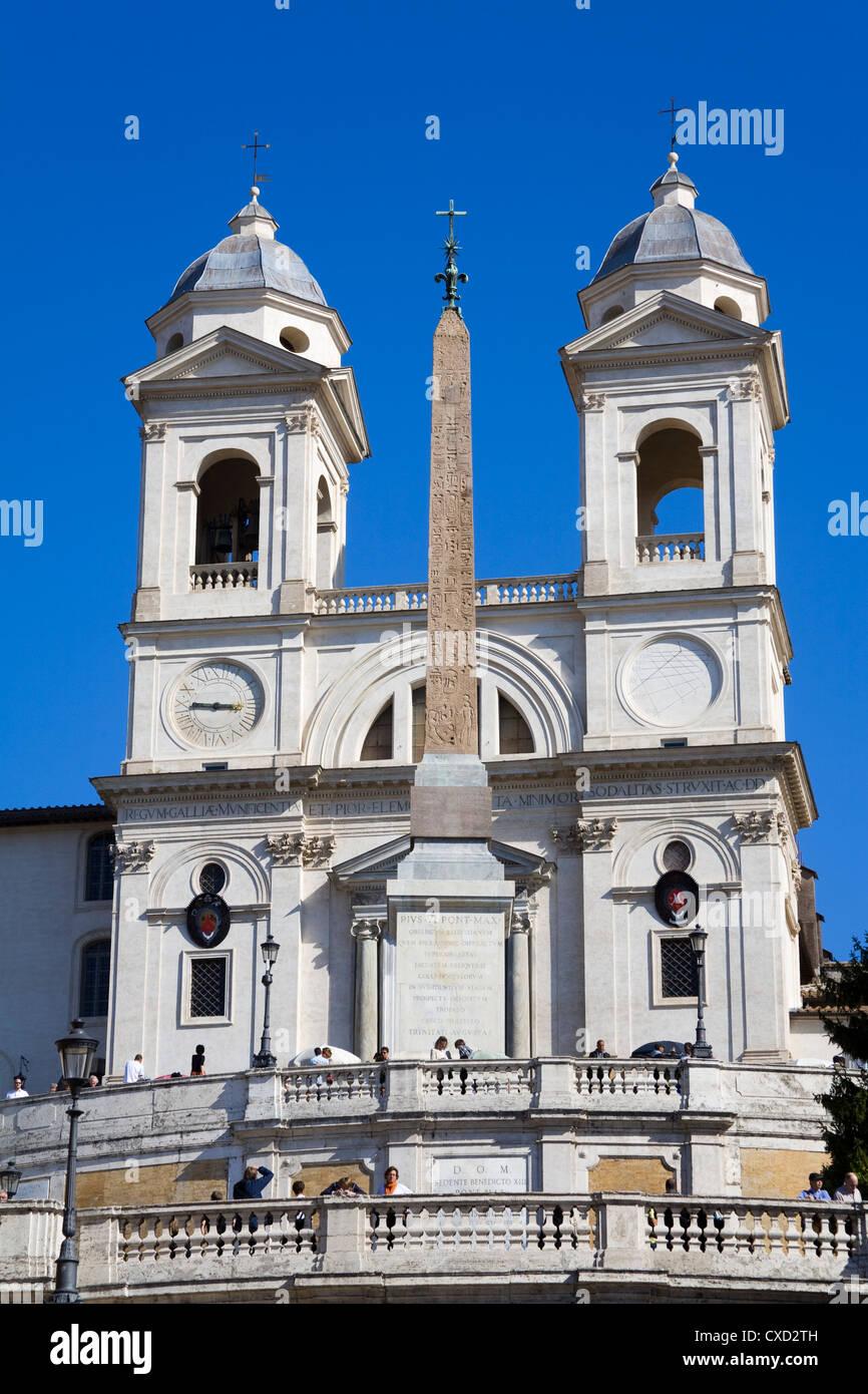Trinita dei Monti Church in Rome, Lazio, Italy, Europe - Stock Image
