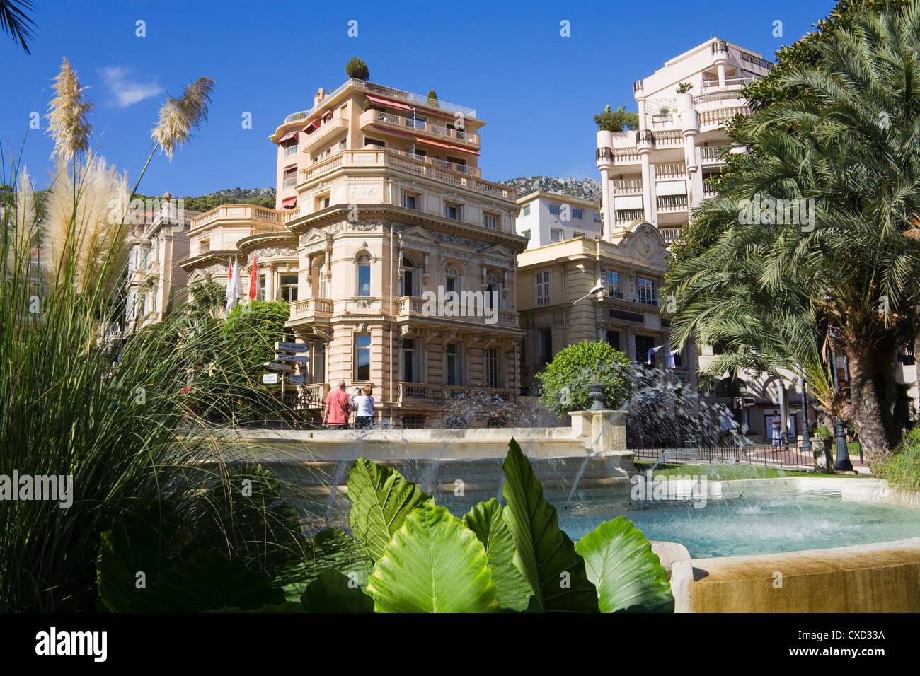 Casino Gardens, Monte Carlo, Monaco, Europe - Stock Image